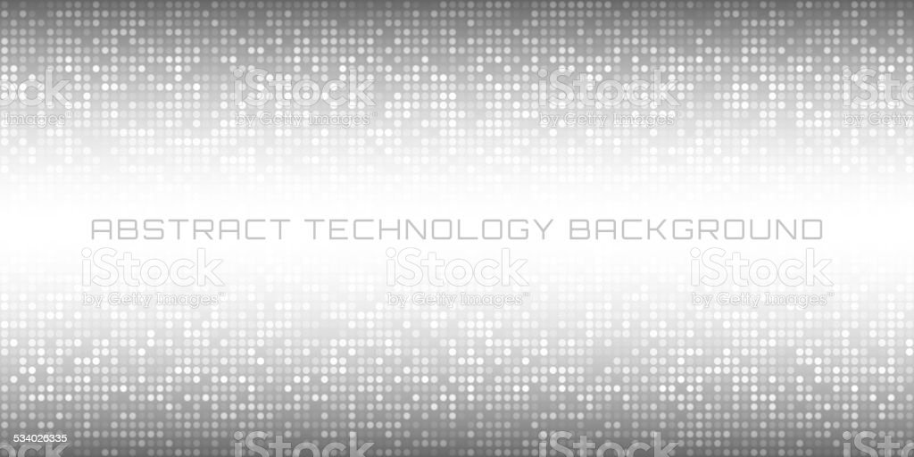 Abstract Gray Technology Horizontal Background vector art illustration
