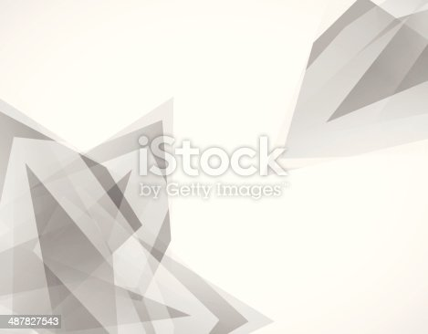 istock abstract gray transparency geometry shape background 487827543