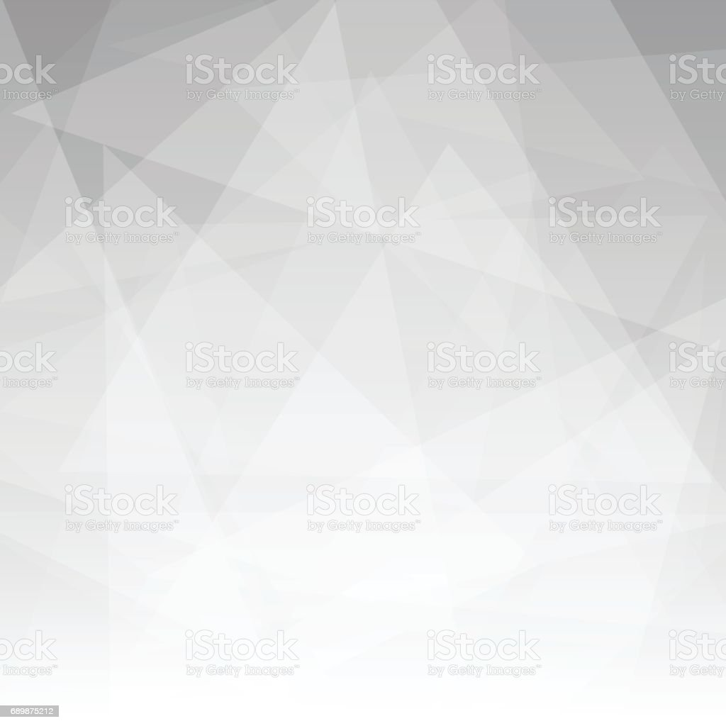 Abstract gray triangle background vector art illustration