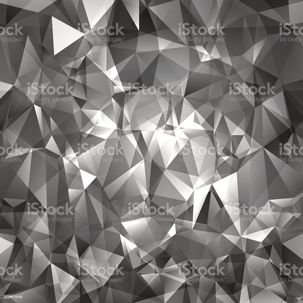Abstract gray triangles background vector art illustration
