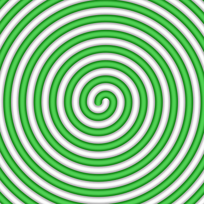 Abstract green and white candy spiral background. Pattern design for banner, cover, flyer, postcard, poster, other. Round  lollipop vector illustration