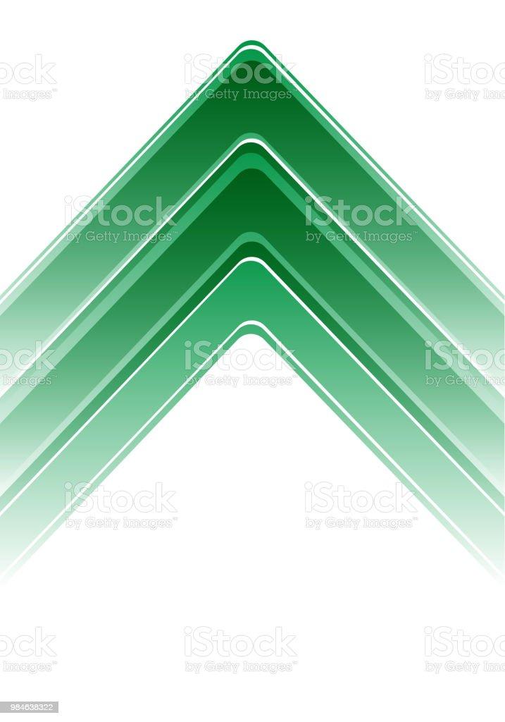 Abstrakt grön pil på vit design modern futuristisk bakgrund vektorillustration. vektorkonstillustration