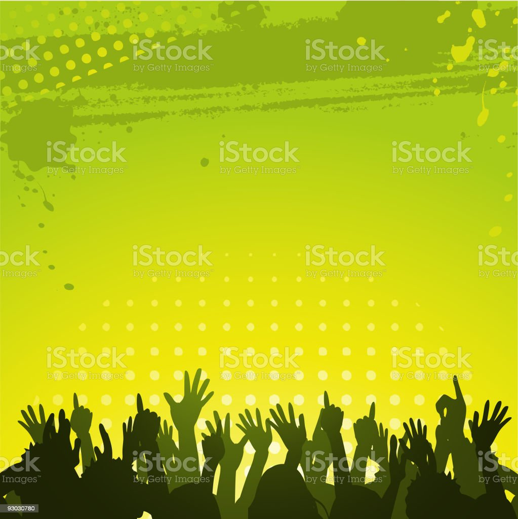 abstract green background and crowd royalty-free stock vector art