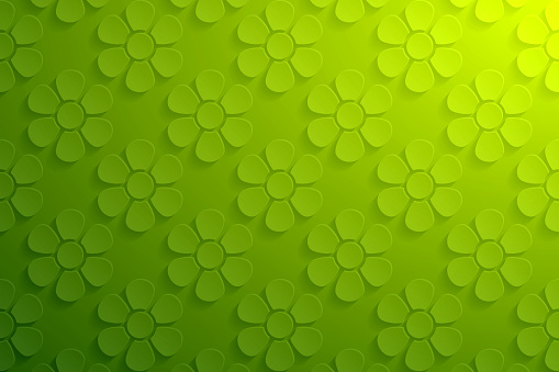Abstract green background - Flower pattern