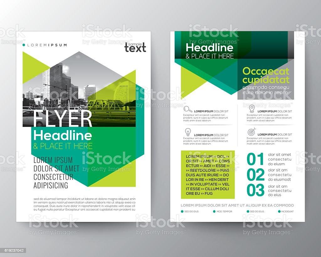 Abstract green background for Poster Brochure Flyer design Layout - ilustração de arte em vetor