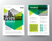 Abstract green background for Poster Brochure Flyer design Layout