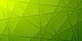 Modern and trendy abstract background. Geometric texture for your design (colors used: green, yellow). Vector Illustration (EPS10, well layered and grouped), wide format (2:1). Easy to edit, manipulate, resize or colorize.