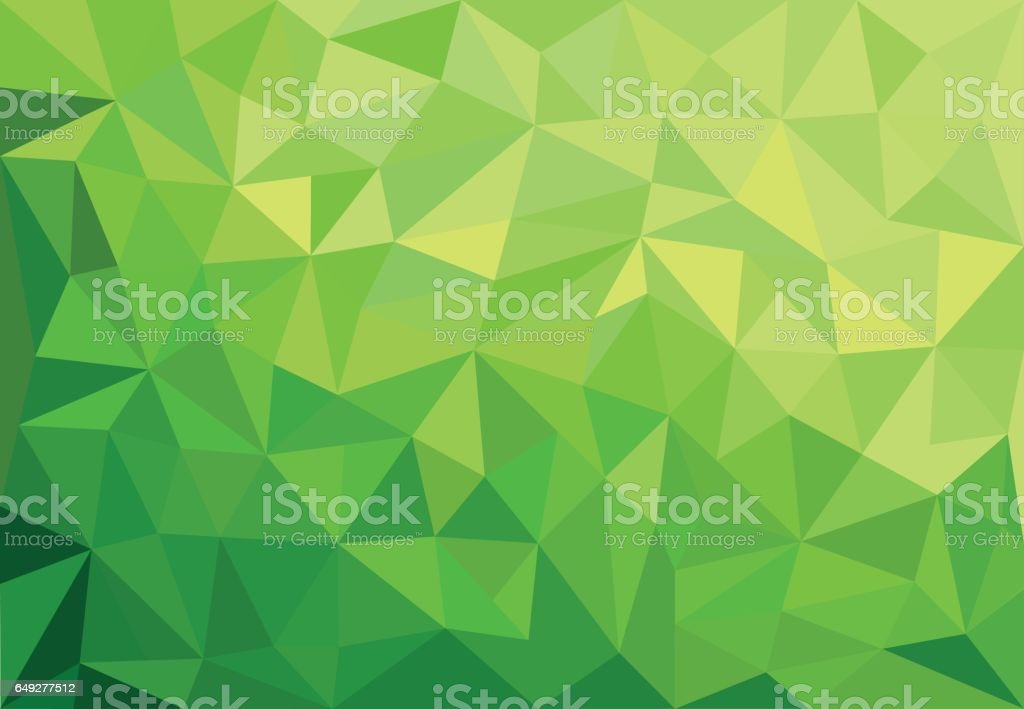 abstract green background with triangles vector art illustration