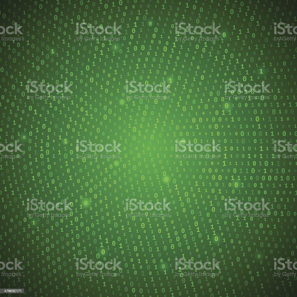 Abstract Green Binary Background vector art illustration
