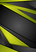 Abstract green and black tech corporate background. Vector design