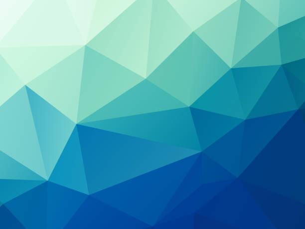 abstract green blue pastel low poly vector background vector art illustration