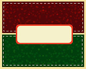 Abstract green Christmas ball cutted from paper on  background. Vector