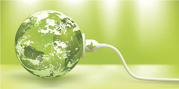 abstract green earth energy concept - energy saving stock illustrations, clip art, cartoons, & icons