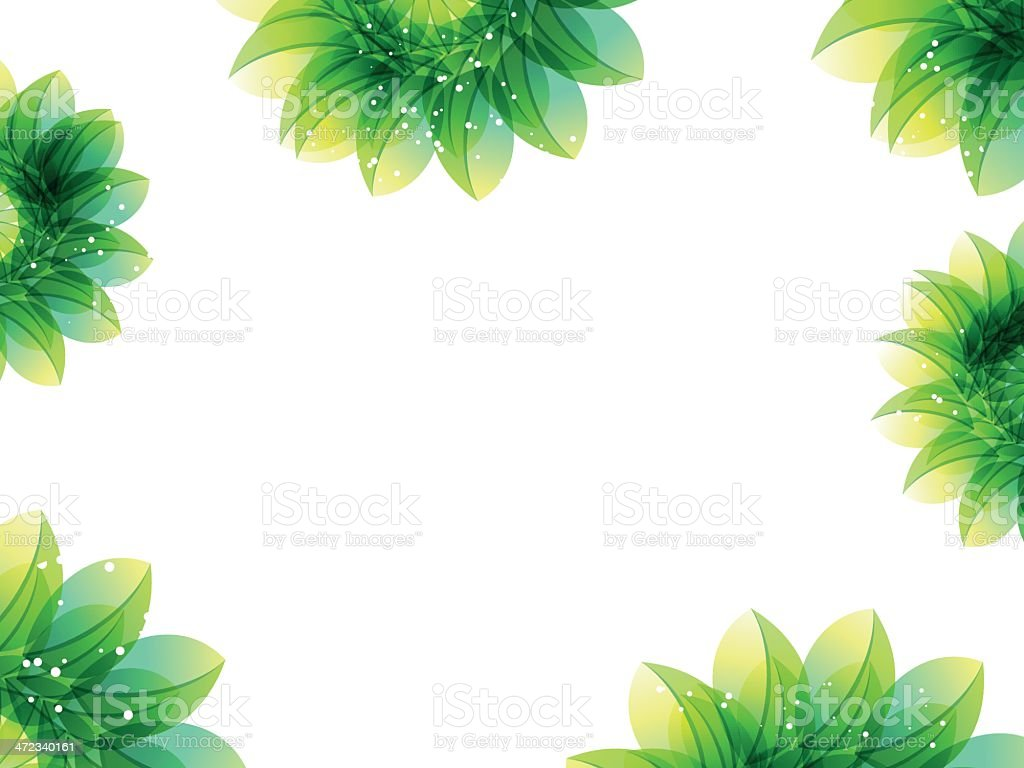 abstract green flower background royalty-free stock vector art