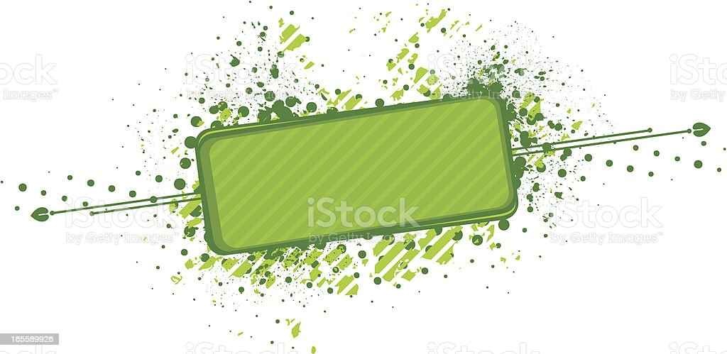 Abstract green frame vector art illustration