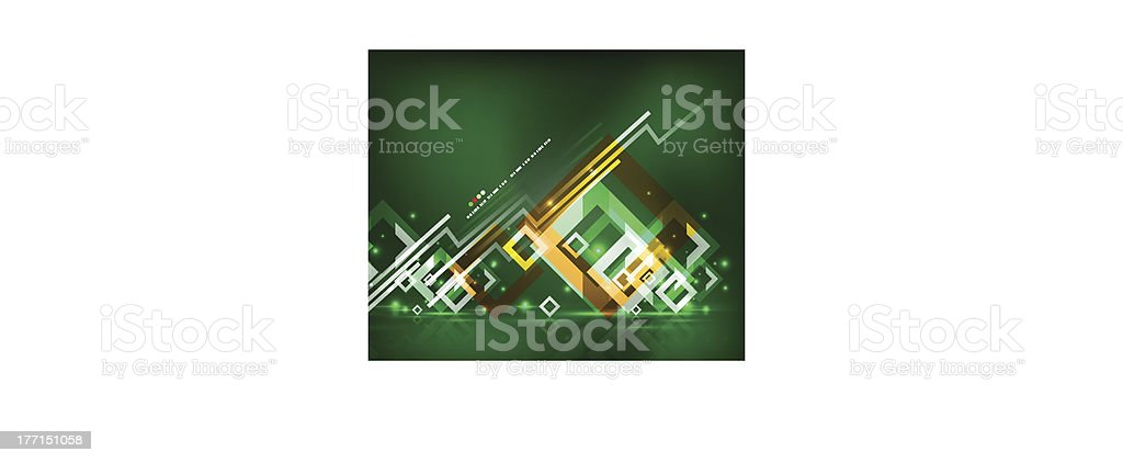 Abstract green glowing lines background royalty-free stock vector art