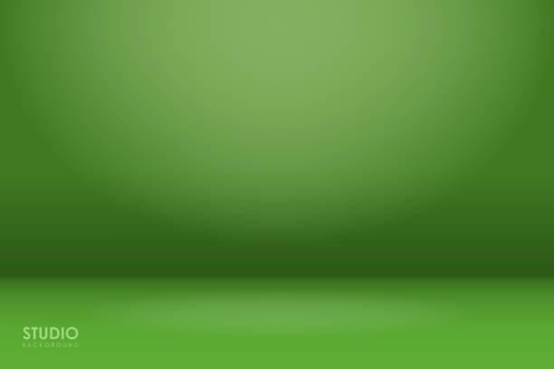 abstrakter grüner farbverlauf. wird als hintergrund für die produktanzeige verwendet - studio stock-grafiken, -clipart, -cartoons und -symbole