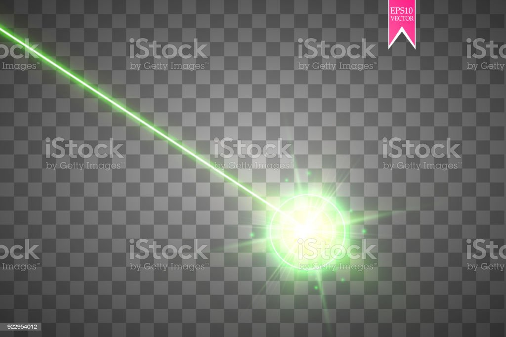 Abstract green laser beam. Laser security beam isolated on transparent background. Light ray with glow target flash. Vector illustration royalty-free abstract green laser beam laser security beam isolated on transparent background light ray with glow target flash vector illustration stock illustration - download image now