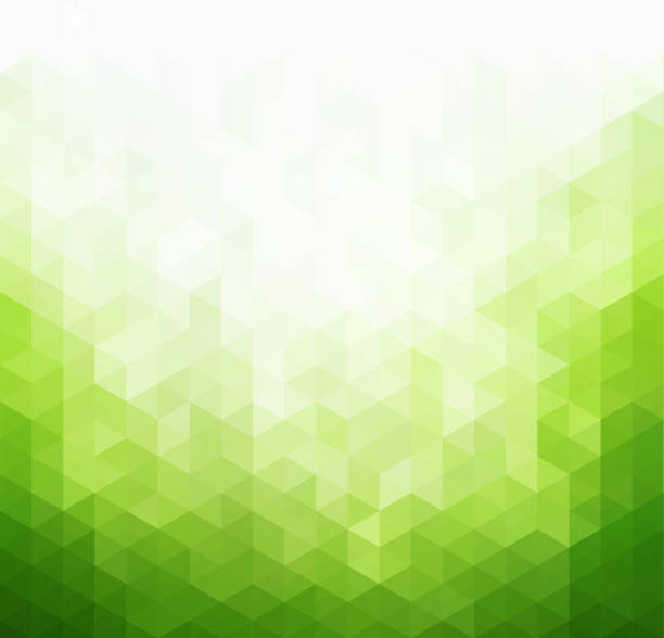illustrazioni stock, clip art, cartoni animati e icone di tendenza di abstract green light template background - verde