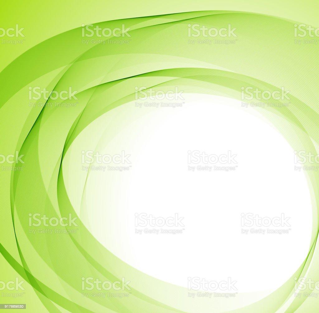 Abstract green lines vector art illustration
