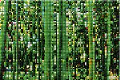 abstract green mosaic check bamboo forest pattern background for design