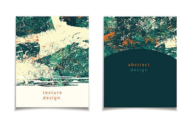 abstrakt grün orange karte - pastellhosen stock-grafiken, -clipart, -cartoons und -symbole