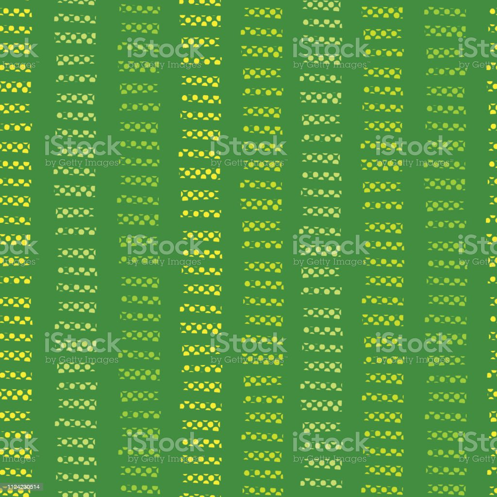 Abstract green seamless vector background. Lime green hand drawn vertical textured blocks in horizontal rows on green background. Hand drawn doodle strokes. Textured backgound. Abstract geometric line