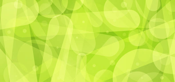 Abstract green shapes background vector art illustration