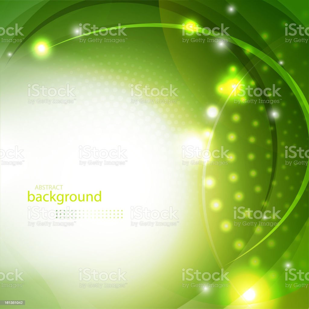 Abstract green shiny background royalty-free stock vector art