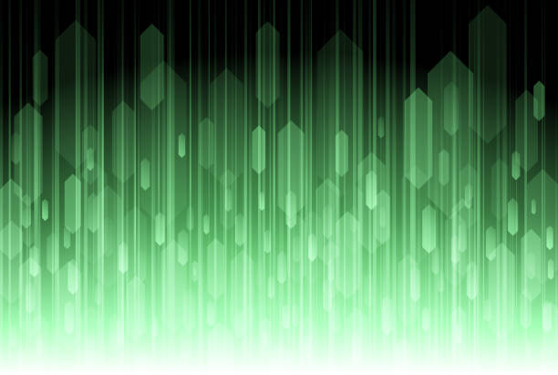 Abstract green speed lines background vector art illustration