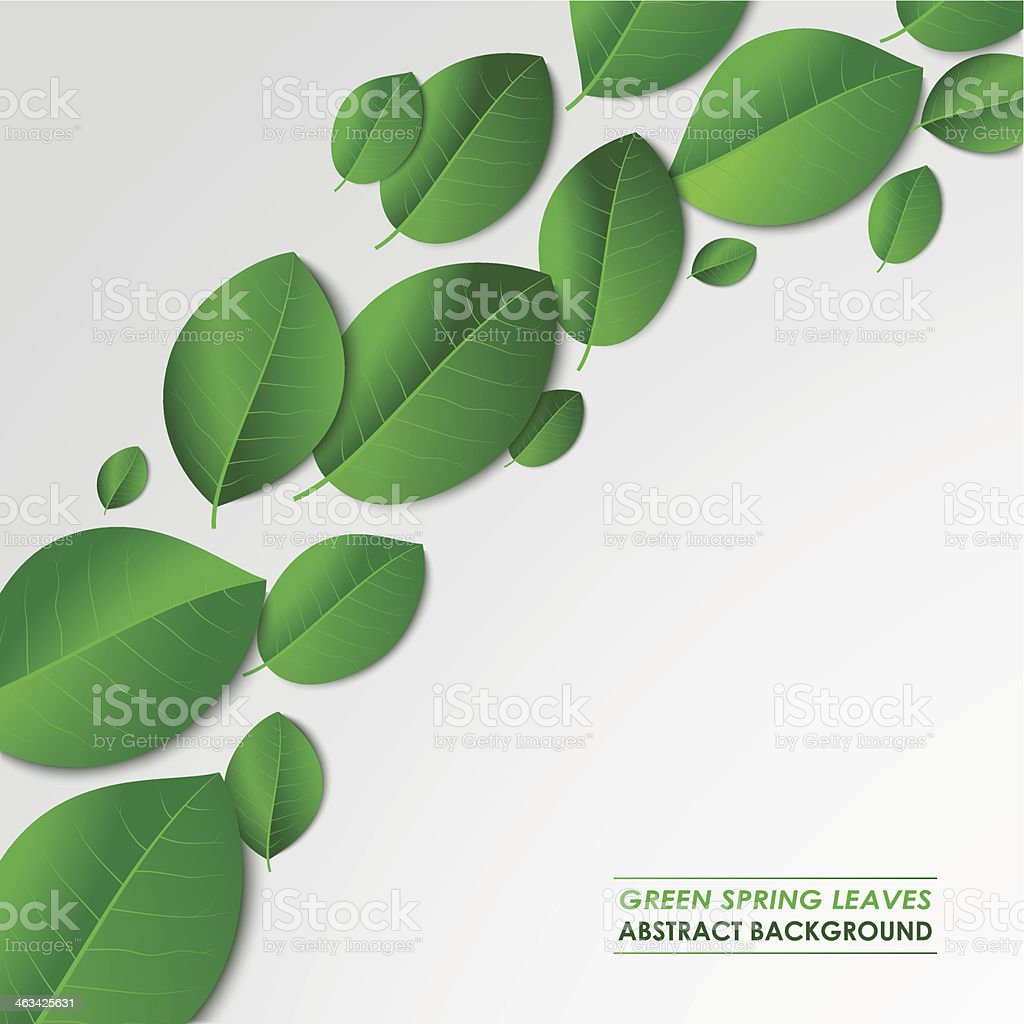 Abstract green spring leaves background royalty-free abstract green spring leaves background stock vector art & more images of abstract
