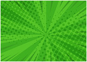 Abstract green striped retro comic background