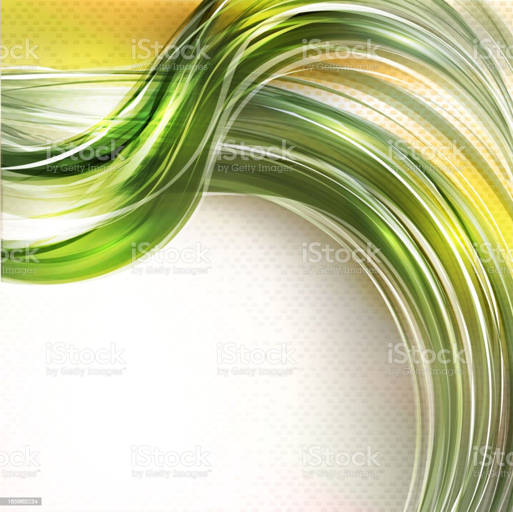 Abstract green swirl background royalty-free stock vector art