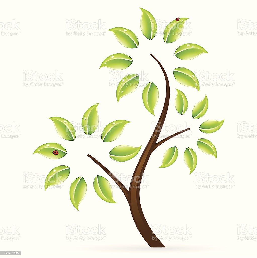 Abstract green tree icon royalty-free stock vector art