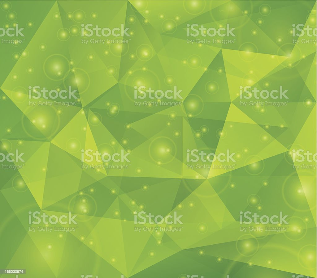 Abstract Green Triangle Background royalty-free stock vector art