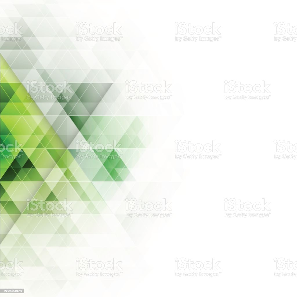 Abstract green triangles geometric background. Vector illustration. vector art illustration