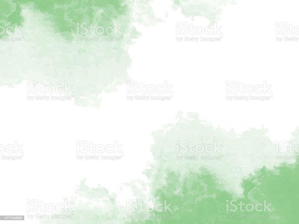 抽象的なグリーンの水彩バックグラウンド ベクターアートイラスト