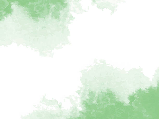 Abstract green watercolor background vector art illustration