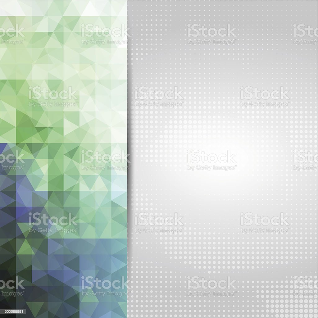Abstract green/blue card or invitation template. vector art illustration