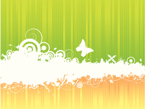 Abstract green/orange background