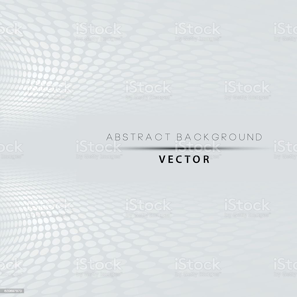 Abstract grey and white halftone perspective background. vector art illustration