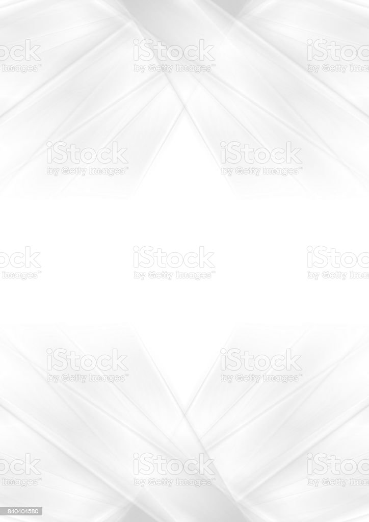 Abstract grey and white smooth stripes background vector art illustration