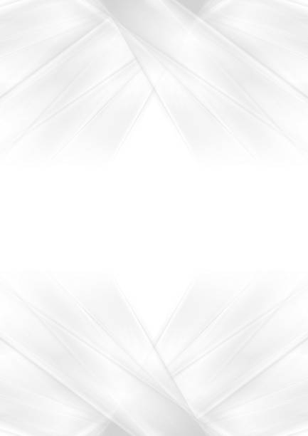 abstract grey and white smooth stripes background - monochrom stock illustrations