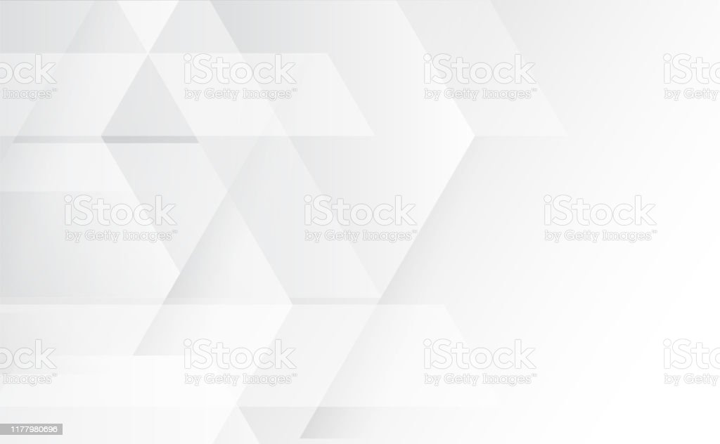 Abstract grey and white tech geometric corporate design background eps 10.Vector illustration - Royalty-free Abstrato arte vetorial