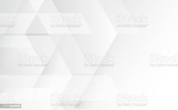 Abstract Grey And White Tech Geometric Corporate Design Background Eps 10vector Illustration - Arte vetorial de stock e mais imagens de Abstrato