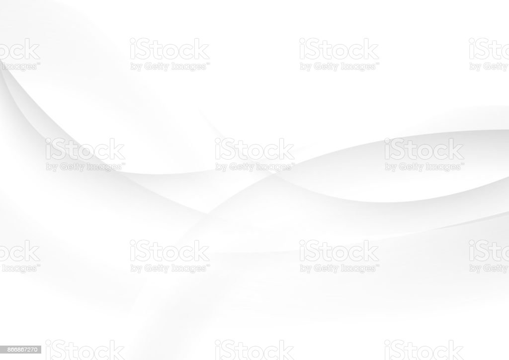 Abstract grey and white waves vector background - ilustração de arte vetorial