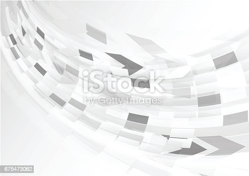 1040250650 istock photo Abstract grey background with curve light 675473062