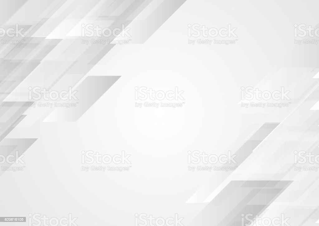 Abstract grey hi-tech corporate background vector art illustration