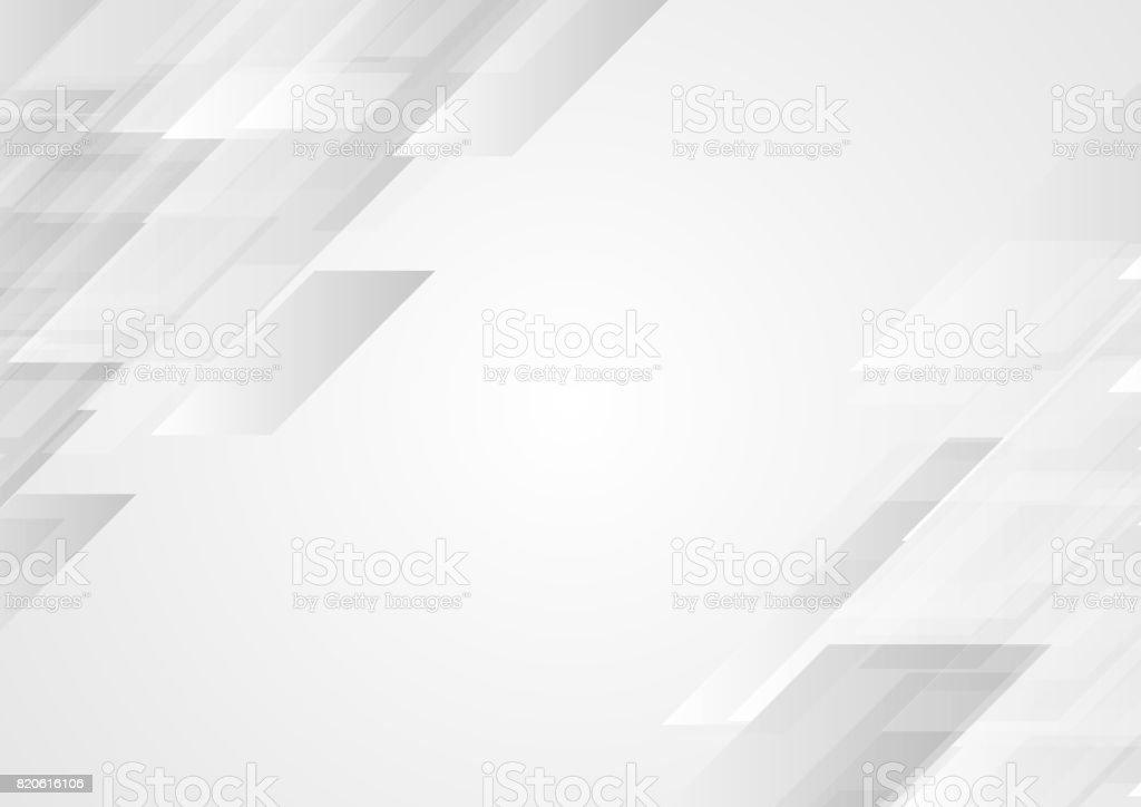 Fond de sociétés Hi-Tech abstrait gris - Illustration vectorielle