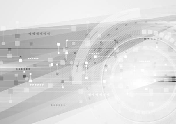 Hi-Tech-futuristische Hintergrund abstrakt grau – Vektorgrafik